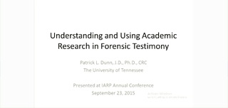 Using Published Research in Forensic Opinions