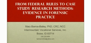From Federal Rules to Case Study Research Methods: Evidence in Forensic Practice