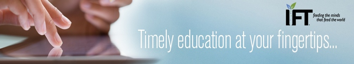 Top page banner for IFT Learn Online.