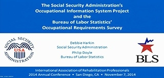 The Social Security Administration's Occupational Information System Project and the Bureau of Labor Statistics' Occupational Requirements Survey