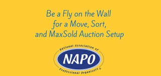 Connecting with Corporate Partners Presented by MaxSold: Be a Fly on the Wall for Move, Sort, and MaxSold Auction Setup