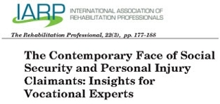 Journal Article: The Contemporary Face of Social Security and Personal Injury Claimants