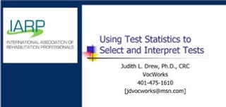 Tools of the Trade: Using Testing Statistics to Select and Interpret Tests