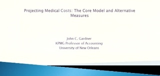 Projecting Medical Costs: The Core Model and Alternative Measures