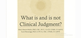 What Is and Is Not Clinical Judgment in Forensics: A Literature Meta Synthesis