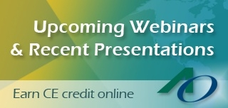 Earn CE  from Upcoming and Recent Webinars