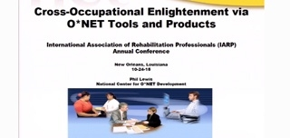 Cross Occupational Enlightenment via O*NET Tools and Products
