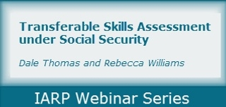 Transferable Skills Assessment under Social Security and Other Disability Programs