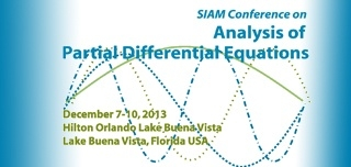 2013 SIAM Conference on Analysis of Partial Differential Equations