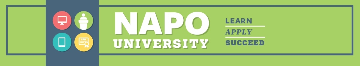Top page banner for NAPO University.