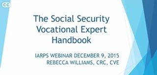 Social Security Vocational Expert Handbook: Revised