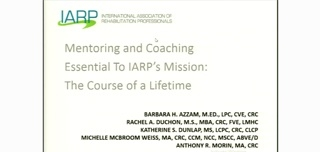 Mentoring and Coaching: Essential to IARP's Mission